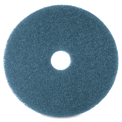 "3M Niagara 5300N Blue Cleaning Pad - 16"" Diameter - 5/Box x 16"" Diameter - Blue"