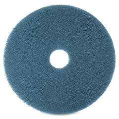 "3M Niagara 5300N Blue Cleaning Pad - 20"" Diameter - 5/Box x 20"" Diameter - Blue"