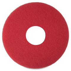 "3M Niagara 5100N Floor Buffing Pads - 12"" Diameter - 5/Box - Red"