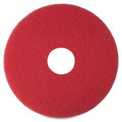 "3M Niagara 5100N Floor Buffing Pads - 16"" Diameter - 5/Box - Red"