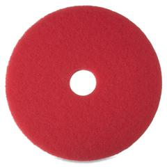 "3M Niagara 5100N Red Buffing Pad - 20"" Diameter - 5/Box x 20"" Diameter - Red"