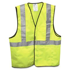 3M Class 2 Safety Vest - Visibility Protection - Yellow, Silver - 1 Each