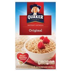 Quaker Oats Instant Oatmeal - Original - Packet - 11.80 oz - 12 / Box