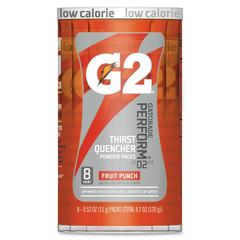 Gatorade Quaker Foods G2 Single Serve Powder - Powder - Fruit Punch Flavor - 0.52 fl oz - 8 / Pack