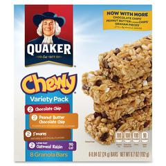 Foods Chewy Granola Bar Variety Pack - Individually Wrapped - Assorted - 6.70 oz - 8 / Box