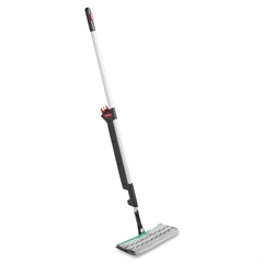 "Rubbermaid Executive Series Double Sided Pulse Mop - 5.25"" x 3.25"" MicroFiber Head - 54.75"" Handle - Double-sided - 1 Each - Silver"