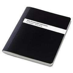 "TOPS Poly Cover Composition Book - 100 Sheets - Printed - Sewn - 0.34"" Front Line(s) Space - Red Margin 7.50"" x 9.75"" - White Paper - Black Cover - Poly Cover - Tear Resistant - 1Each"