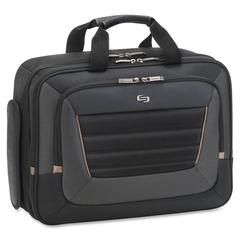 "Carrying Case (Briefcase) for 16"" Notebook - Black, Tan - Handle, Shoulder Strap - 12.5"" Height x 16.5"" Width x 4.8"" Depth"