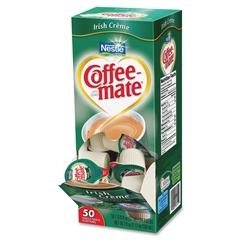 Nestle Professional Coffee-Mate Irish Creme Liquid Coffee Creamer Singles - Irish Cream Flavor - 10.8 g - 50/Box - 1 Serving