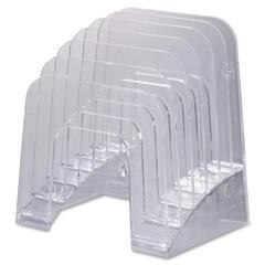 "Heavy-duty Plastic Jumbo Incline Sorter - 6 Compartment(s) - 7.4"" Height x 9.4"" Width x 10.5"" Depth - Desktop, Counter, Wall Mountable - Clear - Plastic - 1Each"