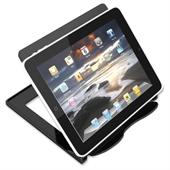 "Deflect-o Hands-free Tablet/Device Stand - 5.8"" x 7.1"" x 7"" - 1 Each - Black"