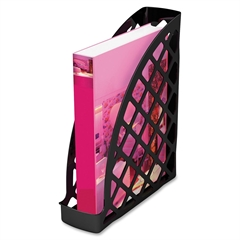 Deflect-o Recycled Plastic Magazine Files - Black - 1 Each