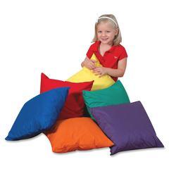 "Childrens Factory Foam-filled Square Floor Pillow - 17"" x 17"" - Foam Filling"
