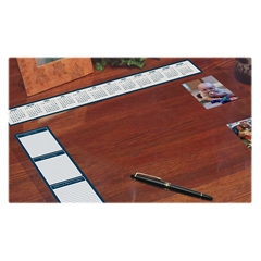 House of Doolittle See-thru Desk Pad Organizer - Desktop - Clear - Vinyl - 1Each
