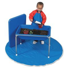 "Children's Factory Small Sensory Table and Lid Set - Rectangle Top - Four Leg Base - 4 Legs - 28.50"" Table Top Length x 20.50"" Table Top Width - 20.50"" Height - Blue, White - Plastic"