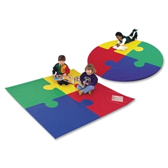 Foam Puzzle Mats Set - School - Foam, Vinyl - Assorted