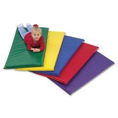 "Childrens Factory Rainbow Rest Mat - Student - 48"" Length x 24"" Width x 2"" Thickness - Rectangle - Foam, Vinyl - Assorted"