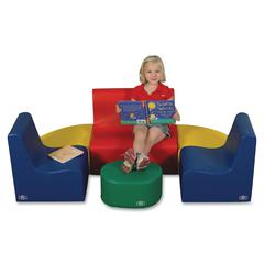Children's Factory Medium Tot Contour Seating Group - Material: Foam, Vinyl - Finish: Assorted