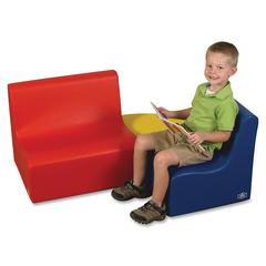 Children's Factory Medium Tot Contour Seating Group - Material: Foam, Vinyl - Finish: Blue, Red, Yellow
