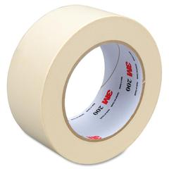 "3M Utility Paper Tape - 1.88"" Width x 60 yd Length - 3"" Core - Crepe Paper Backing - Easy Tear, Pressure Sensitive - 24 Roll - Tan"