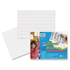 "GoWrite! Dry Erase Learning Boards - 11"" (0.9 ft) Width x 8.3"" (0.7 ft) Height - White Surface - Rectangle - 30 / Pack"