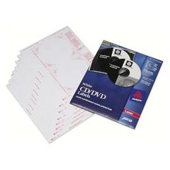 SKILCRAFT Matte CD/DVD Label - 50 / Pack - Circle - 2/Sheet - Laser, Inkjet - White