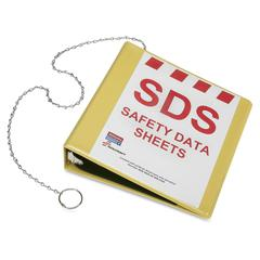 "SKILCRAFT GHS Safety Data Sheet Binder without Wire Rack - 2"" Binder Capacity - Letter - 8 1/2"" x 11"" Sheet Size - 375 Sheet Capacity - Inside Front & Back Pocket(s) - Yellow - 1 Each"