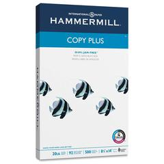 "Hammermill Copy Plus Copy & Multipurpose Paper - Legal - 8 1/2"" x 14"" - 20 lb Basis Weight - 92 Brightness - 5000 / Carton - White"