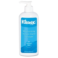 Kleenex Moisturizing Hand Sanitizer - Fruit Scent - 8 oz - Pump Bottle Dispenser - Kill Germs - Hand, Skin - White - Antimicrobial - 12 / Carton