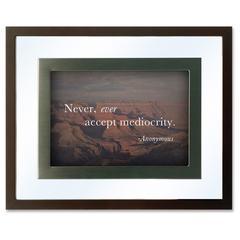 Dax Nature Quotes Motivational Prints Frame - Desktop, Wall Mountable - 1 Each - Wood, Glass - Black