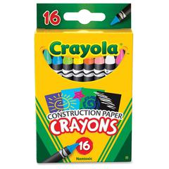 Crayola 16 Construction Paper Crayons - Assorted - 16 / Box