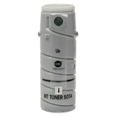 Konica Minolta Type 501A Black Toner Bottle - Laser - Black - 74000 Page - 1 Each