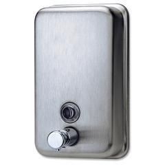 Genuine Joe Liquid/Lotion Soap Dispenser - Manual - 31.5 fl oz (932 mL) - Stainless Steel