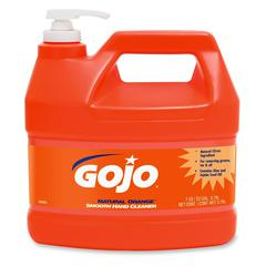 Gojo Natural Orange Smooth Hand Cleaner - Citrus Scent - 1 gal (3.8 L) - Pump Bottle Dispenser - Soil Remover, Dirt Remover, Grease Remover - Hand - Orange - 4 / Carton