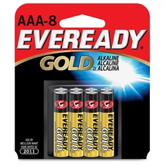 Eveready Gold Alkaline AAA Batteries - AAA - Alkaline - 192 / Carton