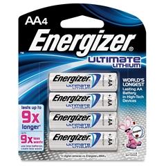 Energizer Ultimate Lithium AA Batteries - AA - Lithium (Li) - 96 / Carton
