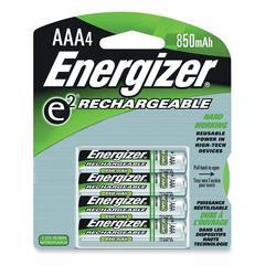 Energizer e2 Rechargeable 850mAh AAA Batteries - 850 mAh - AAA - Nickel Metal Hydride (NiMH) - 96 / Carton