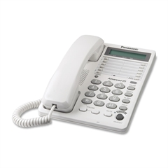 Panasonic KX-TS108W Standard Phone - White - 1 x Phone Line