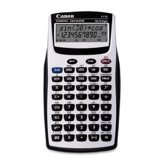 "Canon F710 Handheld Scientific Calculator - 139 Functions - Auto Power Off - 2 Line(s) - 12 Digits - LCD - Battery Powered - 3.2"" x 5.9"" x 0.8"" - Gray - 1 Each"