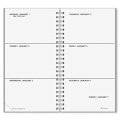 "At-A-Glance Dated Weekly Appointment Refills - Julian - Weekly - 1 Year - January 2017 till December 2017 - 1 Week Double Page Layout - 3.25"" x 6.25"" - Wire Bound - White - Perforated Corner"