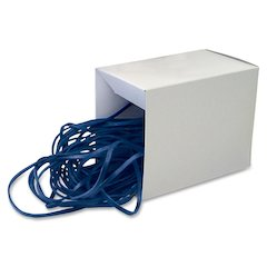 "Alliance Rubber Can Bandz - Size: Large - 17"" Length x 0.25"" Width - Reusable - 50 / Box - Blue"
