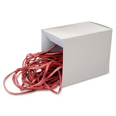 "Alliance Rubber Can Bandz - Size: Medium - 12"" Length x 0.25"" Width - Reusable - 50 / Box - Red"