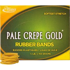 """Pale Crepe Gold Rubber Band - Size: #12 - 1.75"""" Length x 13 mil Width - 963 / Box - Natural"""