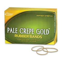 "Pale Crepe Gold Rubber Band - Size: #16 - 2.50"" Length x 0.13"" Width - 2675 / Box - Crepe - Natural"