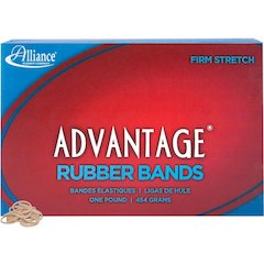 "Alliance Rubber 26085 Advantage Rubber Bands - Size #8 - 1 lb Box - Approx. 5200 Bands - 7/8"" x 1/16"" - Natural Crepe"