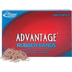 "Alliance Advantage Rubber Bands, #10 - Size: #10 - 1.25"" Length x 63 mil Width - 1 / Box - Natural"