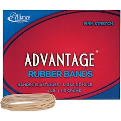 "Alliance Advantage Rubber Bands, #19 - Size: #19 - 3.50"" Length x 63 mil Width - 1 / Box - Natural"