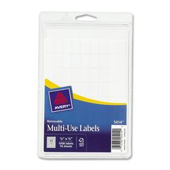 "Handwritten Removable ID Label - Removable Adhesive - ""0.63"" Width x 0.38"" Length - Rectangle - White - Paper - 1000 / Pack"