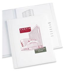 "Classic Presentation Book - Letter - 8 1/2"" x 11 1/2"" Sheet Size - 12 Sheet Capacity - Internal Pocket(s) - Polypropylene - White - 1 Each"