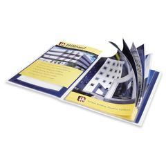 "Avery Flexi-View Presentation Book - Letter - 9 1/2"" x 11 1/2"", 8 1/2"" x 11"" Sheet Size - 12 Sheet Capacity - Internal Pocket(s) - Polypropylene - Blue - 1 Each"